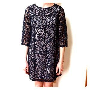 H&M Lace Overlay Dress